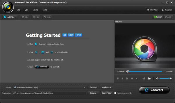 Instalar y abrir el Aiseesoft Video Converter Ultimate