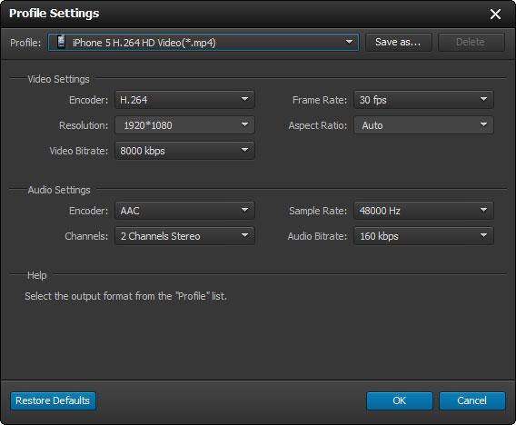 Ajustar las configuraciones de audio y video de sus archivos