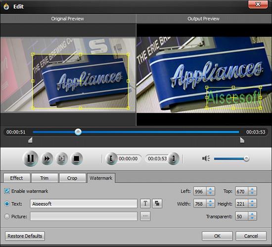 Editar los efectos visuales de su video