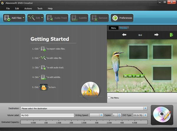 Abrir el DVD Creator en su PC