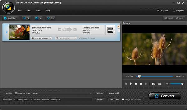 Convertir y ver video 4K