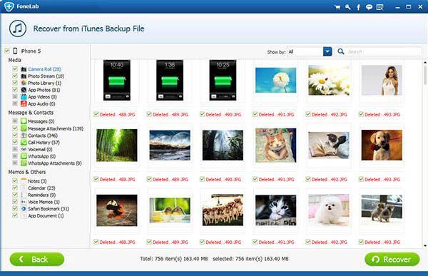 Seleccionar los archivos que desea restaurar