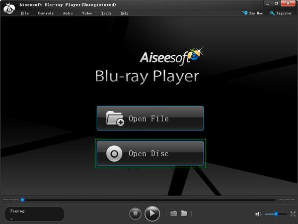 Interface principal del Blu-ray Player