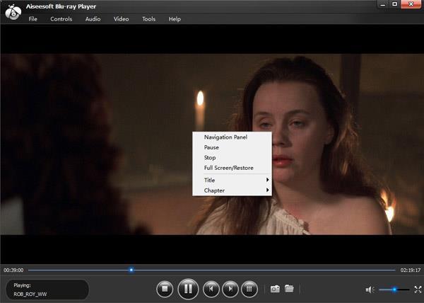 Hacer clic con el botón derecho en su película blu-ray