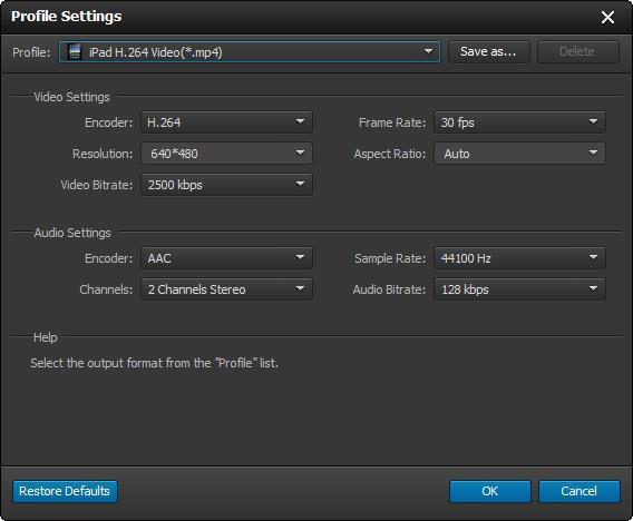 Ajustar los parámetros de conversión de su video