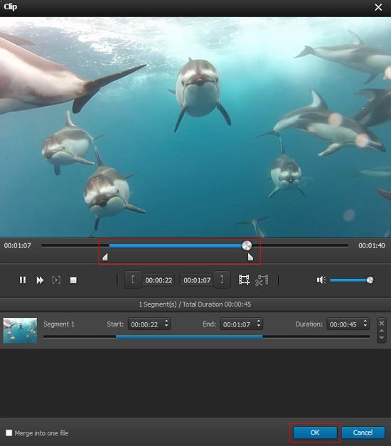 Cortar la duración del video
