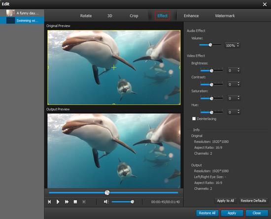 Ajustar parámetros de audio/video