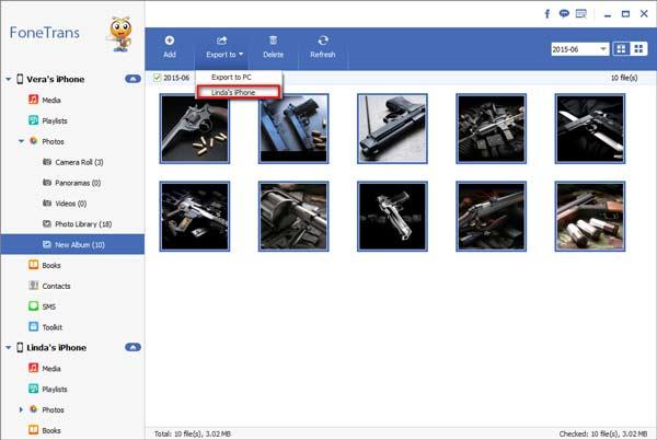 Seleccione las fotos que desea exportar
