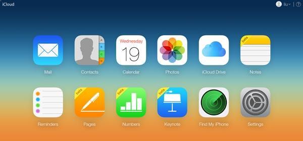 Entrar en su cuenta del iCloud