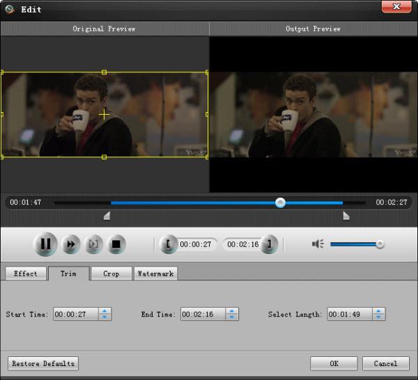Cortar la duración de su video