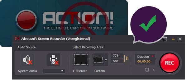 ¡Alternativa al grabador de pantalla Action!
