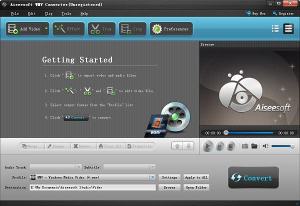 Importar sus archivos para el Aiseesoft Video Converter convertidor