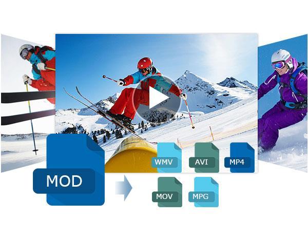 Convertir MOD a WMV, AVI, MP4, MOV y MPG