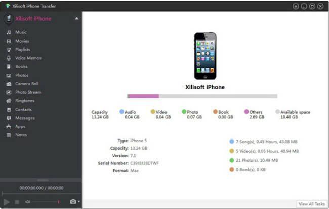 Xilisoft transferir archivos iphone