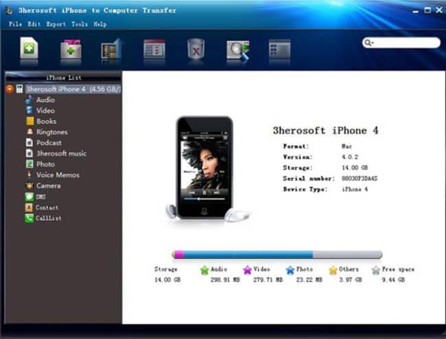 3herosoft transferencia fotos iphone