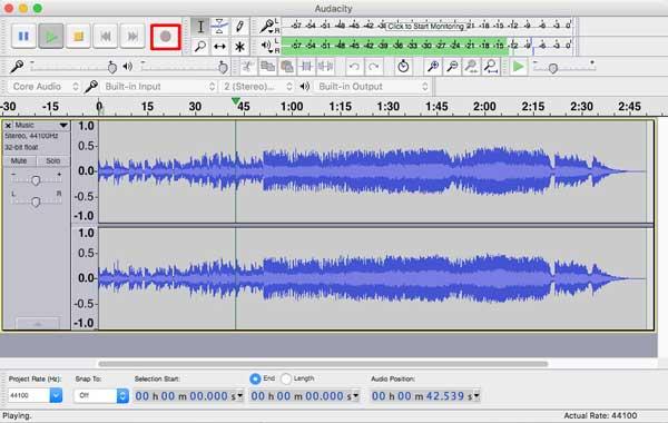 Iniciar su grabación de audio