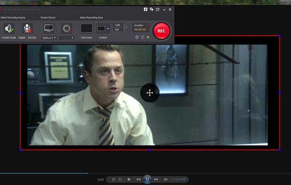 Iniciar la grabación con el Screen Recorder