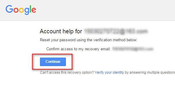 Utilizar su e-mail secundario para recuperar su contraseña