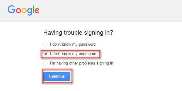 No sé mi nombre de usuario