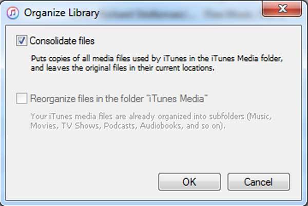 Marcar la opción Consolidar archivos
