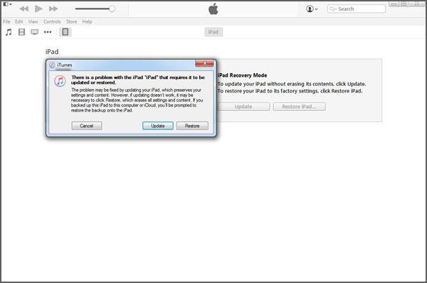 Restaurar su iPad con el iTunes