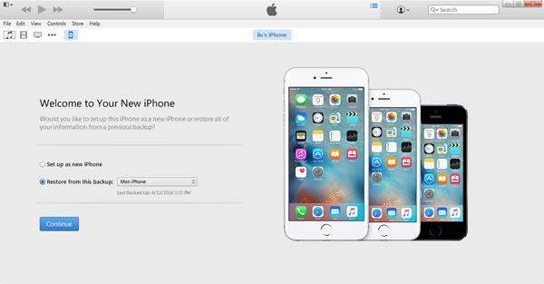 Restaurar su iPhone con una copia de seguridad del iTunes