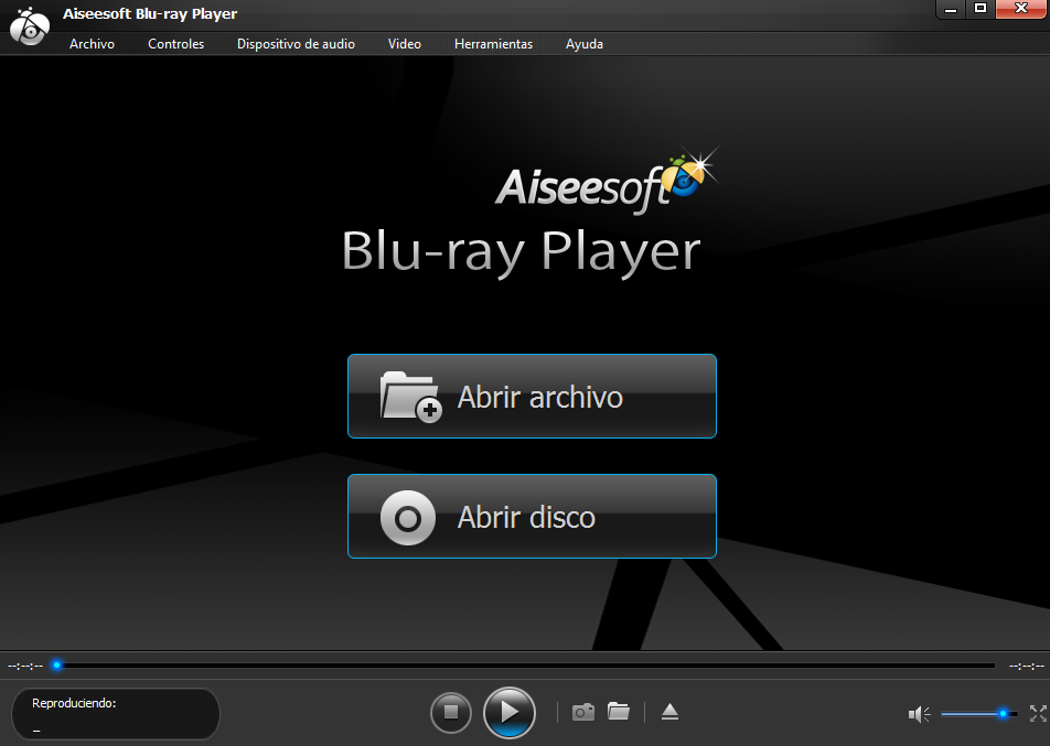 Hacer clic en Abrir disco Blu-Ray