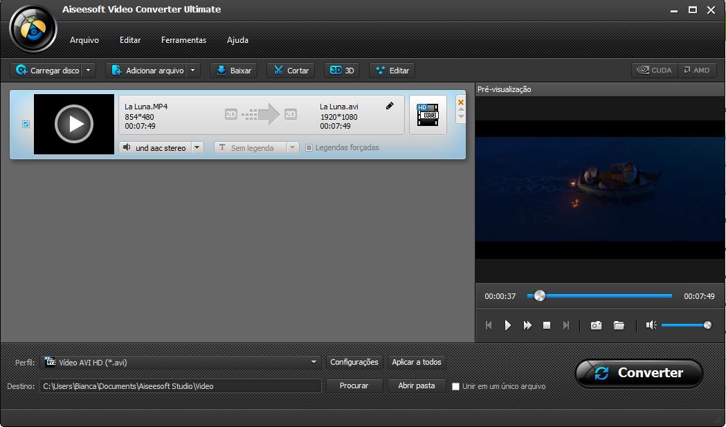 Abra seus arquivos MTS no Aiseesoft Video Converter Ultimate