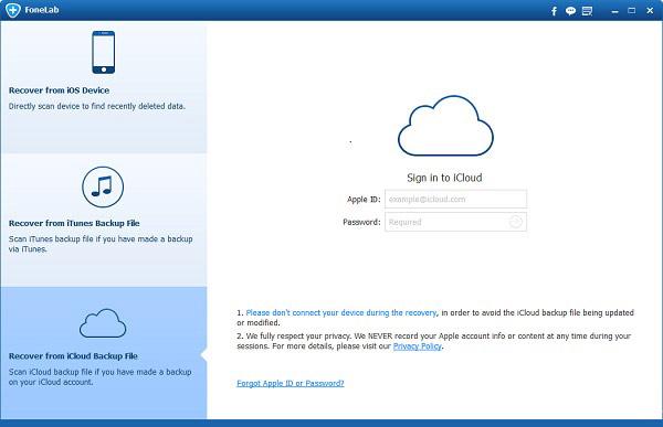 Descargar su copia de seguridad del iCloud