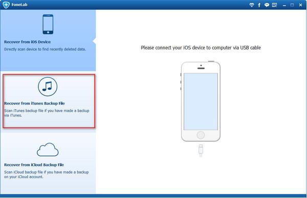 Paso 1 Gerenciar copias de seguridad iTunes FoneLab