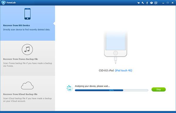Paso 1 recuperar calendario de iPhone con FoneLab