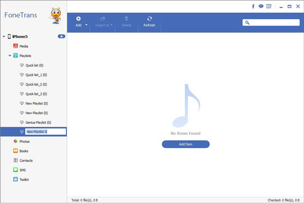 Passo3 Criar playlist iPhone FoneTrans