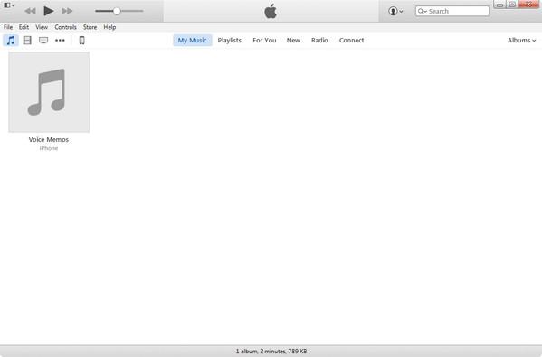 Abrir el iTunes y conectar su iPod al PC