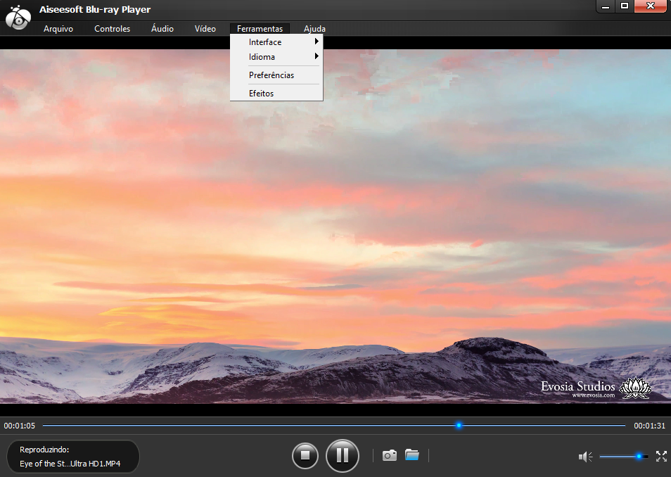 interface para ver filme 4k Aiseesoft Blu-ray Player