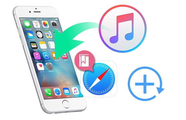 Restaurar favoritos iTunes FoneLab