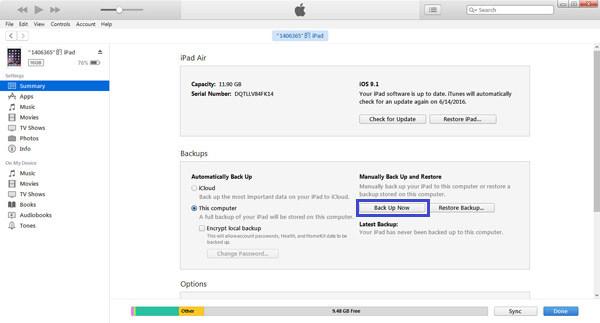 Resetar iPad FoneEraser