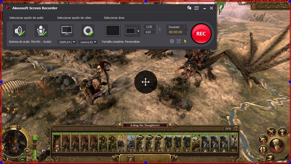 Grabar gameplay con el Aiseesoft Screen Recorder