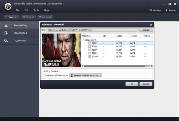 Passo3 Baixar videos facebook Video Converter