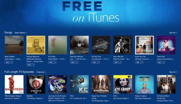 Categoría de películas gratis iTunes Store ScreenRecorder