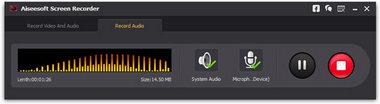 Mejores programas para descargar MP3 grabar audio ScreenRecorder