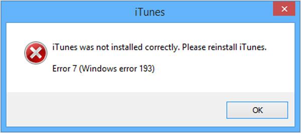 Corregir error 7 iTunes - FoneLab