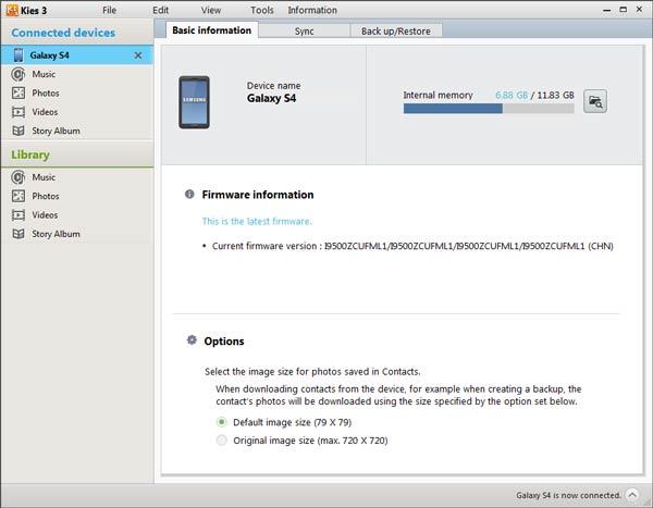 Paso 1 Copia de seguridad Samsung Kies FoneCopy