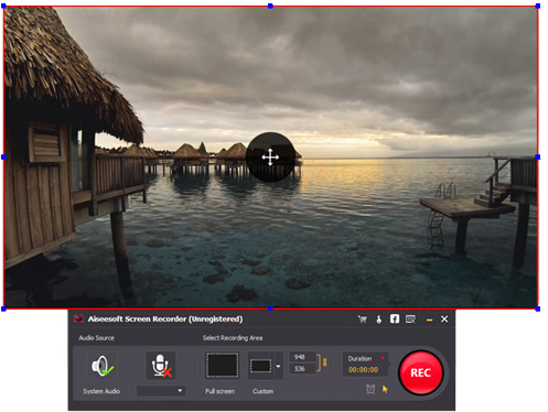 Passo 2 gravar tela alternativa ao Microsoft Screen Recorder Aiseesoft