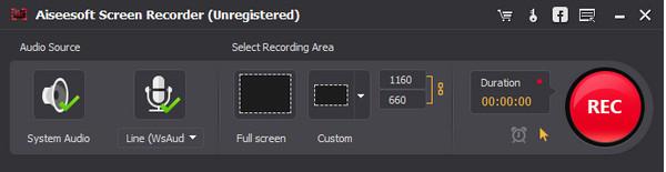Passo 3 gravar tela alternativa ao Microsoft Screen Recorder Aiseesoft