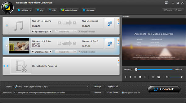 Passo3 Editar MP3 Video Converter Ultimate