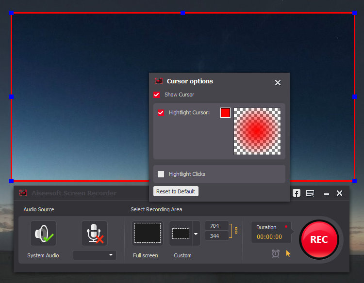 AiseeSoft Screen Recorder - mejor grabador de pantalla sin retraso
