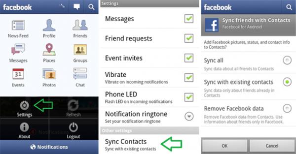 Programas sincronizar contatos Android