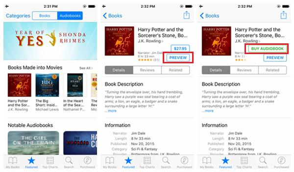 Baixar audiobooks iBooks store