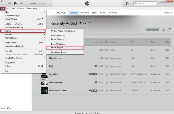 Compartilhar playlists iTunes passo 2