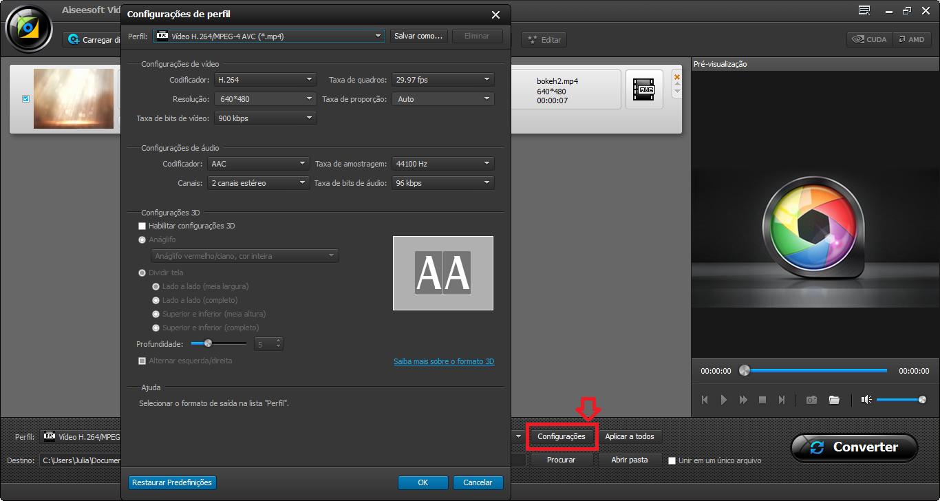 Editar el video en AMV antes de convertirlo